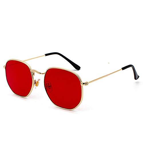 vintage gold sunglasses men square metal frame silver brown black small sun glasses female unisex summer style