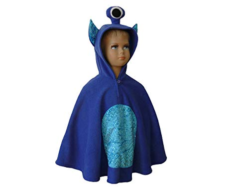 Junge Kostüm Alien - fasching karneval halloween kostüm cape für kleinkinder alien monster blau