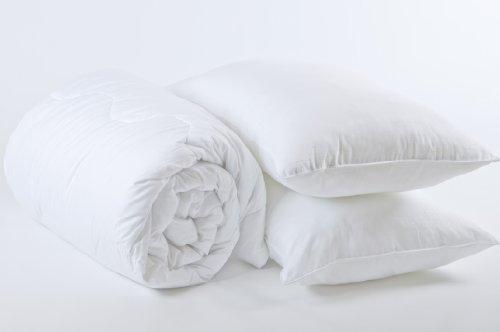 Superior Best Value Bedding Bundle Student College / University Bed Set – SINGLE Size 13.5 TOG Duvet, 2 Pillows & Mattress Protector – Bedding Direct UK