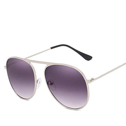 Sonnenbrille,Klassische Frauen Kontaktlinsen Sonnenbrille Sommer Wrap Metallrahmen Reflektierenden Damen Brille Weiblichen Candy Farben Gläser Uv 400 Weiss Violett