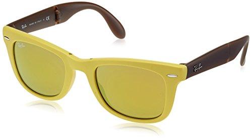 Ray-Ban Unisex Sonnenbrille RB4105, Einfarbig, 50 mm, Gelb (gelb, braun/ gelb)