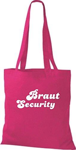 Shirtstown Stoffbeutel JGA Braut Security viele Farben pink