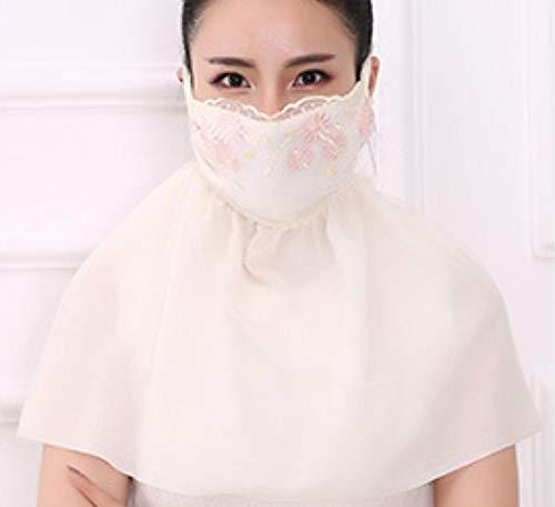 LIUQIAN Double Couche de Protection Solaire Longs Masques Dames auvent en Coton équitation protège-Cou épaule Masque Anti-poussière