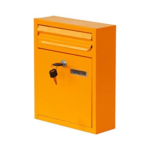 HTDZDX Mur respectueux de l'environnement de la boîte aux lettres imperméable mur étanche à la pluie avec verrou livre livre journal magazine boîte aux lettres boîte aux lettres suggestion boîte jaune