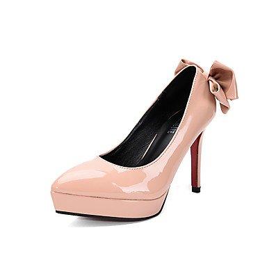 Moda Donna Sandali Sexy donna tacchi tacchi caduta / Punta /Dress Stiletto Heel Bowknot Nero / Grigio / mandorla arancio / a piedi Orange