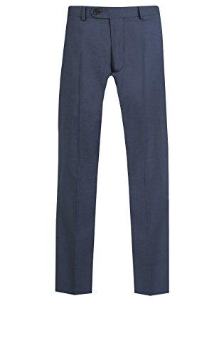 Dobell Herren Pazifikblau Figurbetonte Halb Gefütterte Formelle Anzugshose Hose Pazifik Blau 34S (Gefüttert Flat-front-hose)