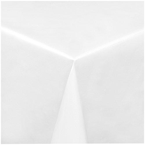 TEXMAXX Wachstuchtischdecke Wachstischdecke Wachstuch Tischdecke abwaschbar (100-00) - 100 x 140 cm - PVC Tischdecke abwischbar, Uni Muster in Weiss