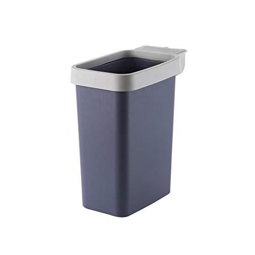 W-SHYP Ungedeckter Papierkorb Aus Papierkorb Aus Kunststoff Mit Druckring - Blau, Grau, Marineblau (Farbe : Navy blau) (Navy Papierkorb)