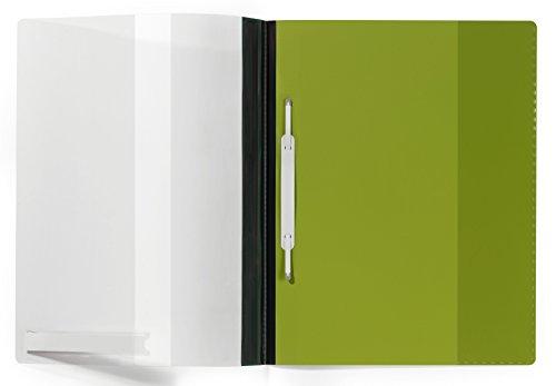 Durable Schnellhefter DIN A4, überbreit, Hartfolie, grün, 2510-05