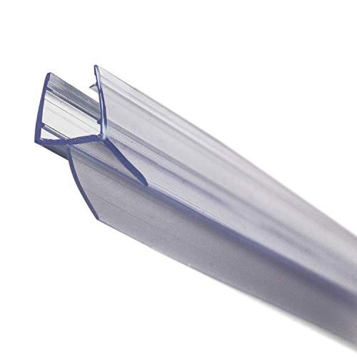 KANWA - 100cm - 1 Meter Duschdichtung transparent für die Duschkabine 6 mm, 7 mm, 8 mm Glasdicke der Duschtür, Duschleiste - Ersatzdichtung - Wasserabweiser mit Dichtkeder schimmelbeständig