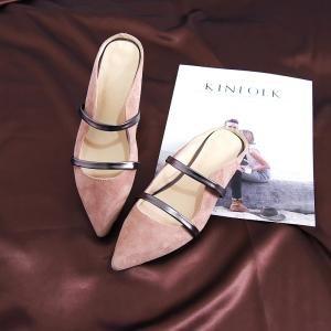hexiajia22cm-24.5ccm chaussure femme chausson talon bas chaussure à perle chaussure à lacet chaussure blanche Brun