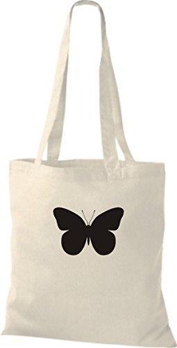 Marienkäfer Libelle Schmetterling natur Stoffbeutel Käfer Kult ShirtInStyle Butterfly pHqw8tWPnX