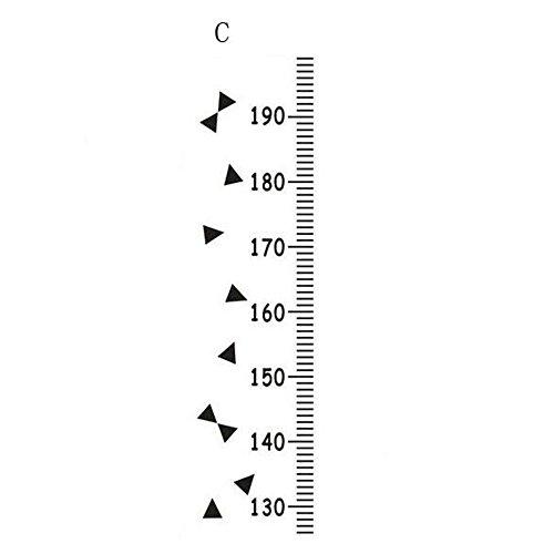 Kinder Höhe Wachstum Diagramm messen Wandbehang Herrscher Decal Kinderzimmer Dreieck (Kind Wachstum Diagramm Hängen)