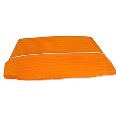 Rumas pliable pare-brise de voiture Visière étanche Coque avant arrière Block fenêtre Pare-soleil, Orange, 200*95cm(L*W).
