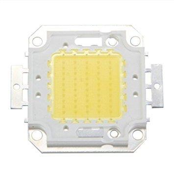 TOOGOO (R) 50W 3800LM 6500K DC32-34v Bombilla LED Lampara DIY Chip Luz Color Blanco