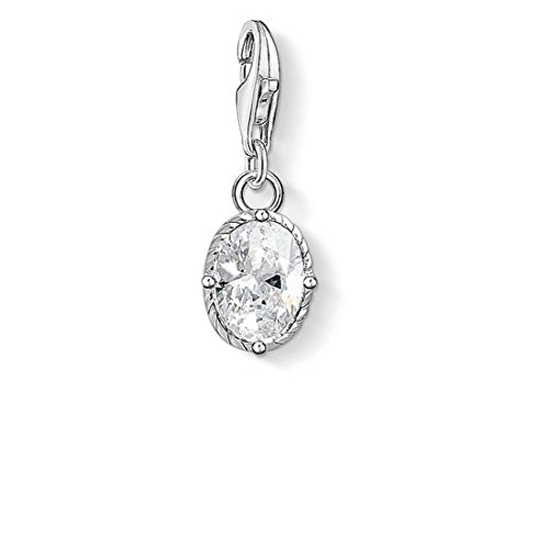 Thomas Sabo Damen-Anhänger weißer Stein 925 Sterling Silber 1674-051-14