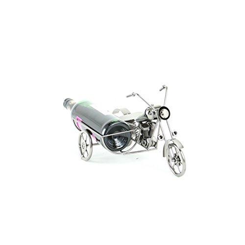 Weinhalter Flaschenständer aus Metall Motorrad mit Beiwagen | knuellermarkt.de | Dekoration