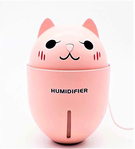 lagom humidificador micetto, Difusor de aromaterapia ML para aceites esenciales uso hasta 10H incluye Luz LED y ventilador Rosa