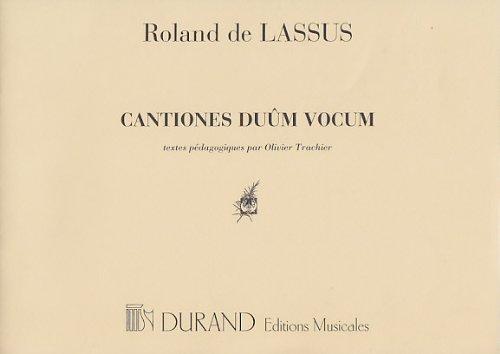 Cantiones Duum Vocum Textes Pédagogiques Formation Musicale