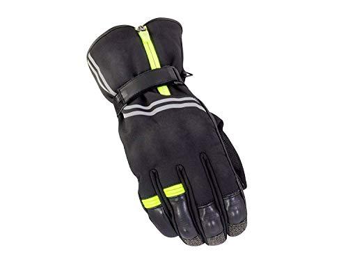 BikeIT Guardian Winter Road Handschuh schwarz/neon groß Leder/Soft Shell () Neon Soft Shell