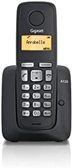 Gigaset A120 Cordless Phone with 18 Hrs Talk Time, 200 Hrs Standby, 50M Indoor & 300M Outdoor Range, 50 Co