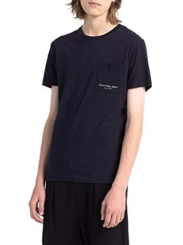 Calvin Klein Tee Shirt J30j307428 Talb Slim 402 Marine