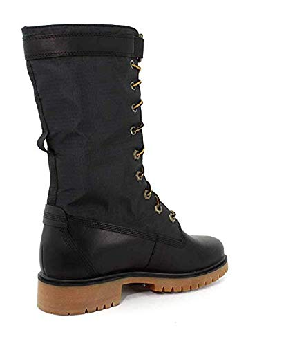 Timberland Womens Jayne WP Gaiter Boot, Jet Black Mincio/Jet Black, Size 7.5