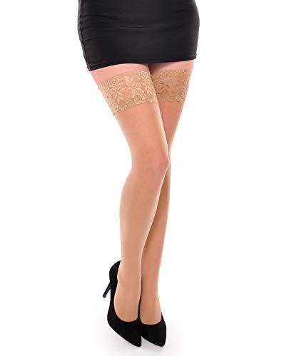 Damen Gorgeous Sheer Strümpfe Halterlose Strümpfe Strumpfwaren Gr. XXXL/XXXXL, Nude - Fancy Pants Panty