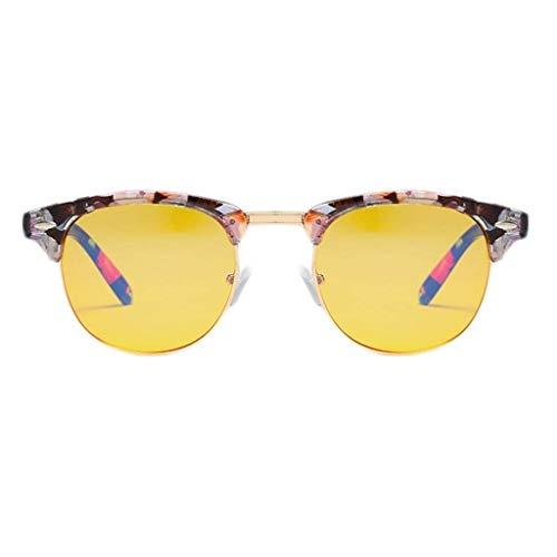 RMXMY Zustrom von Menschen Port Wind Retro-Reisnagel Brille runden Rahmen Spiegel Anti-Blaulicht Myopie Flachspiegel College Wind Brillengestell