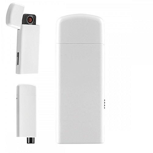 USB Feuerzeug in Geschenkverpackung, Farbe:Weiß