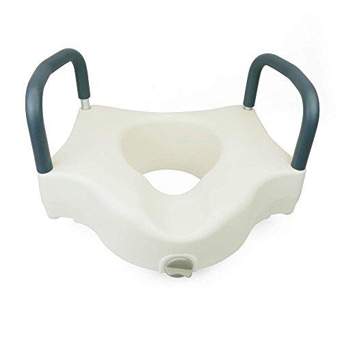 PrimeMatik - Toilettensitzerhöhung mit armlehnen für WC