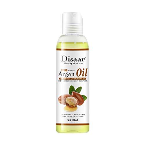 Reines natürliches Arganöl 100ml kaltgepresste Feuchtigkeitscreme feuchtigkeitsspendende Hauthaarpflege - Zitronenverbene, Lavendel Und Thymian