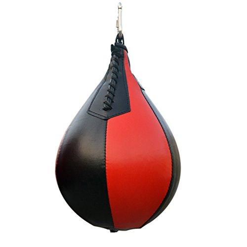 RUNACC PU Boxe Palla a Sacco da Appendere Speed Dodge Ball, Ideali per Allenamento di Boxe e Allenamento, Nero e Rosso