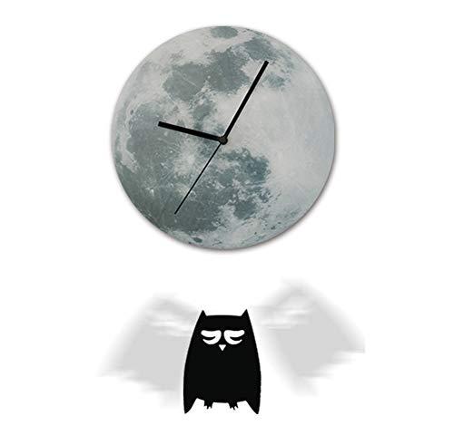 Persevering Melody - Clock Beleuchtete Pendel-Uhr Halloween Kreative Wand-Uhr Wandaufkleber Kinderhaus Dekoration,BD01