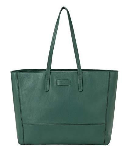 Liebeskind Berlin Damen Essential Shopper Large Schultertasche, Grün (Dark Green) 16x40x60 cm -