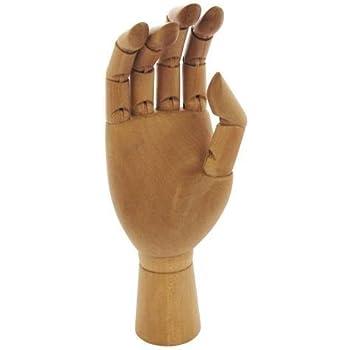 "Life-Size Artists // Shop Manikin 12/"" Adult Jakar Wooden Manikin Hand"