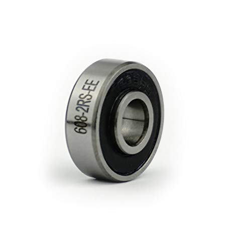 608-2RS-EE Kugellager - beiseitig verlängerter/überstehender / breiter Innenring (1mm) - 8x22x7mm / mit Flansch: 8x22x9mm 608RS - Breite Kugellager