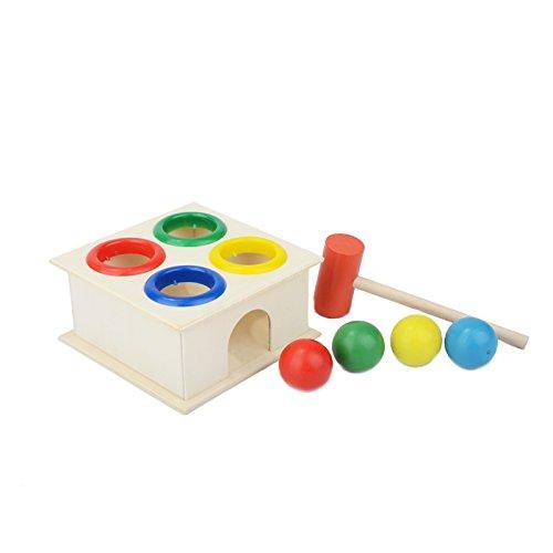 Martillo de Madera con Bolas , Netspower Bancos con Martillo para Bebés Juego de Golpear Juguete de Madera Colores para Niños y Bebés