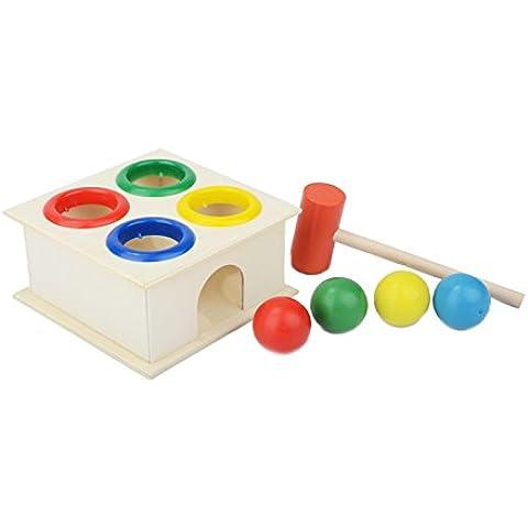 Giocattoli di legno, Netspower Legno Martello e Palline di Legno Formazione Giocattoli per il Bambino Prima Infanzia
