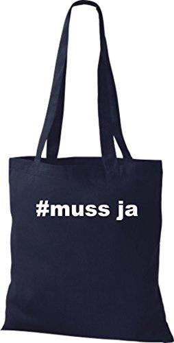 Crocodile #doit leur hashtag hipster oui, sac shopper sac à bandoulière plusieurs couleurs Bleu - Bleu marine