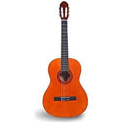 Lenio Guitare acoustique classique pour enfant Junior High School 76,2 cm Corde en nylon