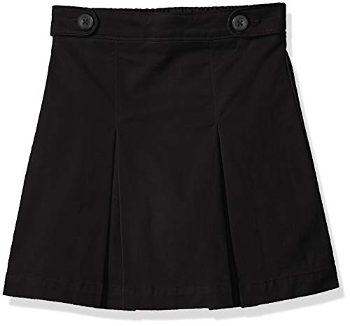 Amazon Essentials Skort für Mädchen, Uniform-Skort, Black, US XXL (EU 158 CM, P)
