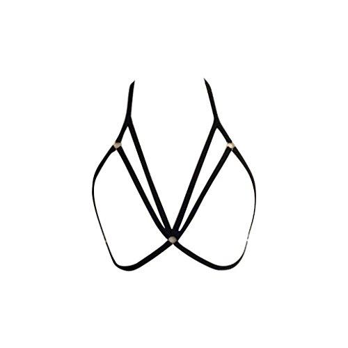 Sunnywill Büstenhalter Verführerische Frauen Harness BH elastischen Käfig BH Strappy hohl Bustier für Damen und Mädchen - Halloween-geschenk-körbe Geliefert
