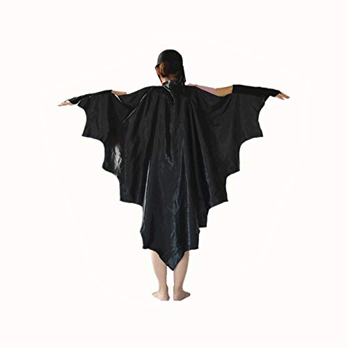 dermausflügel Fledermausflügel Schwarzer Umhang Cape Vampir Kostüm Halloween Erwachsener Unisex ()