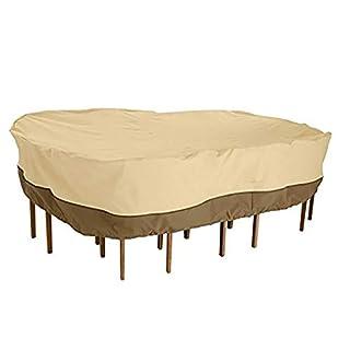 AY-cover Gartenmöbel Staubschutz, Oxford-Stoffmaterial, Sonnenschutz Wasserdichte Abdeckung (Farbe : Beige, größe : Square-325 * 208 * 58cm)