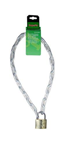 Chaîne de sécurité avec cadenas 900mm zingage brillant 6mm