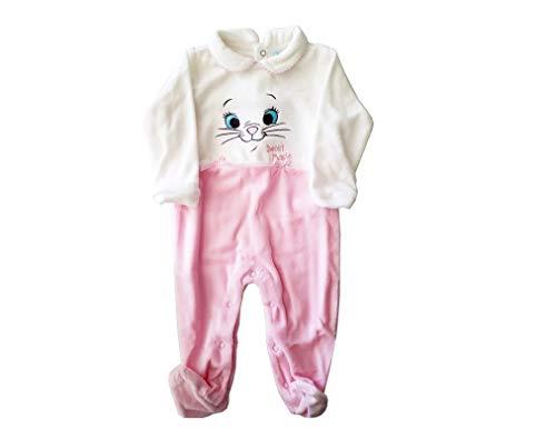 Arnetta tutina minù gattina marie 45671 in ciniglia con piedino (panna, 6 mesi)
