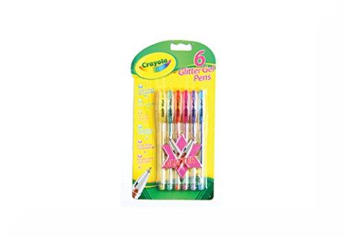 Crayola Glitzer-Gel Stifte Aufhängen Pack 6's + Inspirierende Magnet - Crayola-gel
