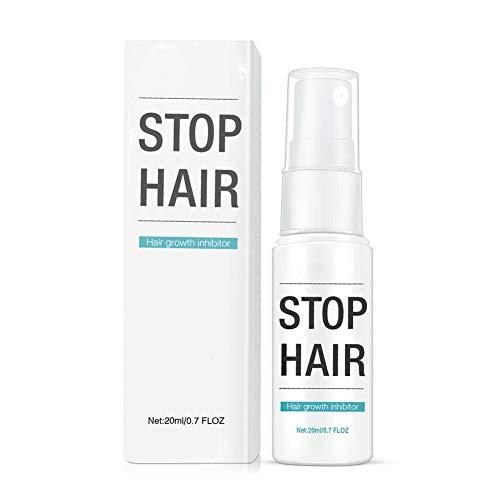 Sunnyushine 20ml Haarwachstumshemmendes Spray,Verlangsamt Den Haarwuchs, Anwendung An Beinen, Bikinizone,100 Natürliche Essenzformel -