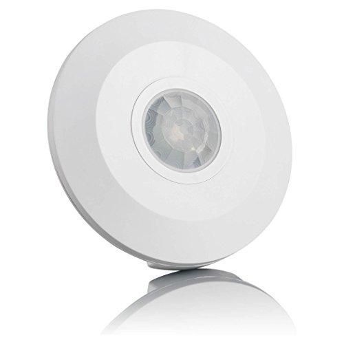SEBSON® Bewegungsmelder Innen, Aufputz Decken Montage, programmierbar, Infrarot Sensor, Reichweite 6m / 360°, Bewegungssensor LED geeignet